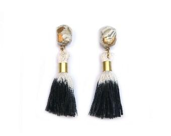 Black & Stone Ombre Earrings