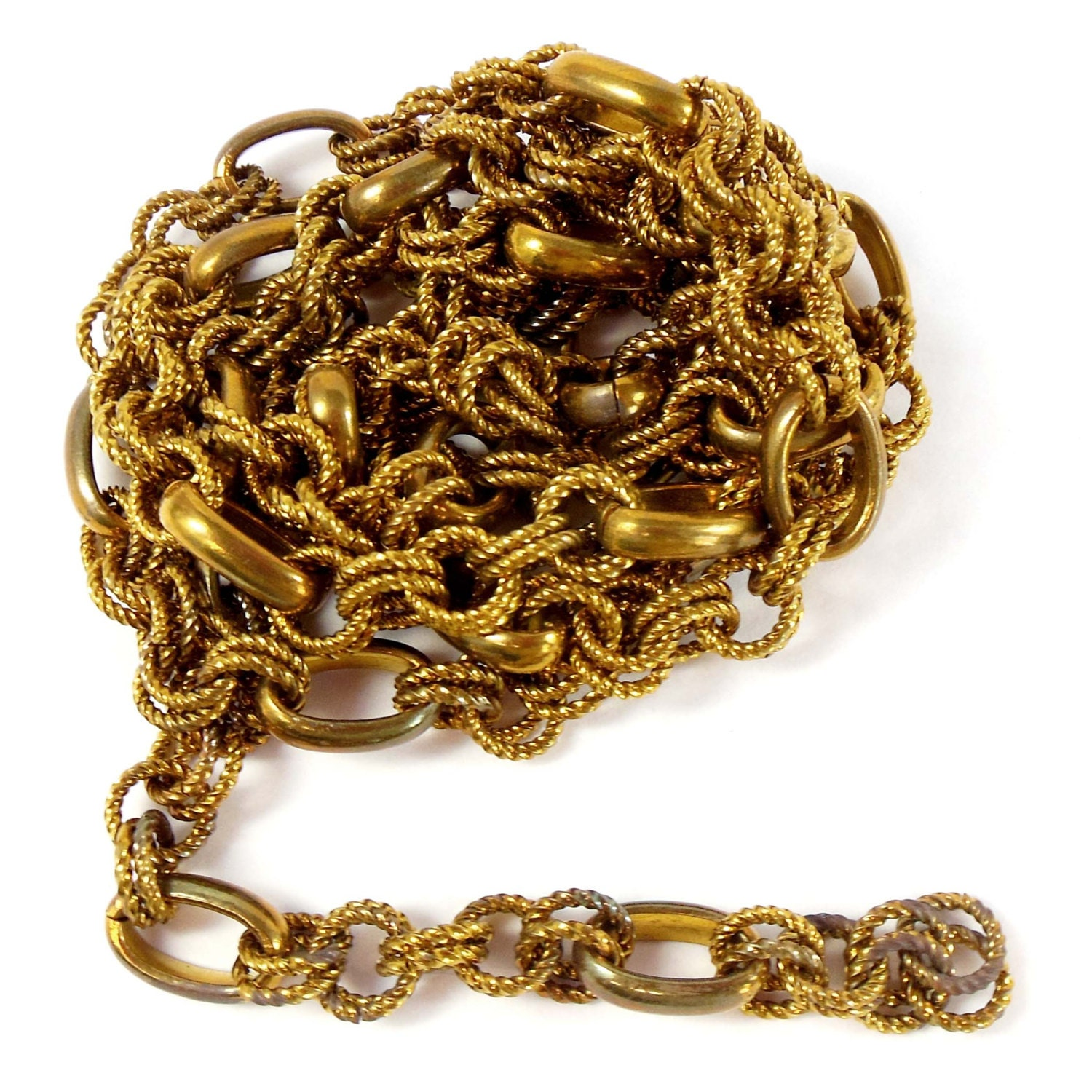 vintage jewelry chain jewelry making antique brass oval