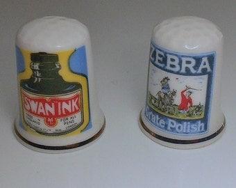Vintage England Advertising Thimbles