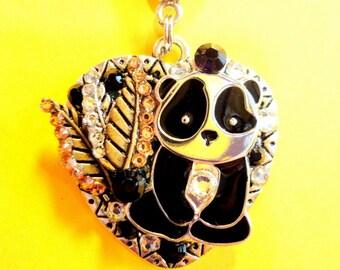 Panda Heart Pendant