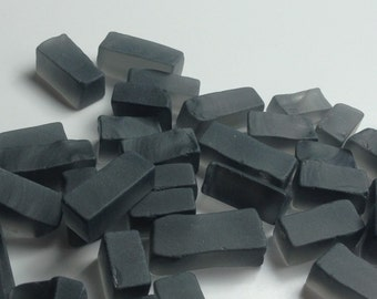 1 Pound Frosted Smokey Glass Rectangles