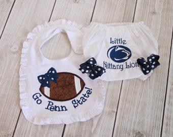 Penn State baby girl gift set