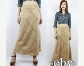 Vintage Linen Maxi Skirt XS S Hippie Maxi Skirt Linen Skirt Striped Skirt Long Skirt Hippie Skirt Hippy Skirt