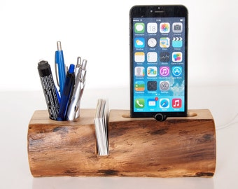 iPhone Dock - Pen Holder - Card Holder - iPod touch dock - (desk accessory / office accessory / office organizer)