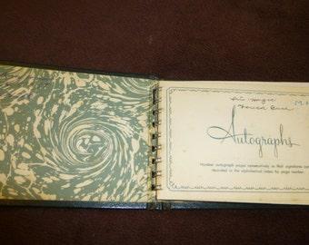 Autograph Book Vintage 1960s Teen Girl Named Iris