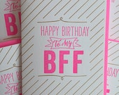 best friends - Best Friend Card - BFF Birthday Card - Best Friend Birthday Card - Letterpress best friend birthday card.