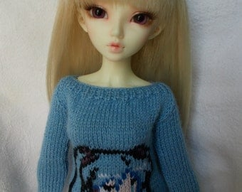 Handmade outfit pullover with Miku Hatsune for MSD/Minifee