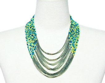 Bohemian Two Tone Necklace