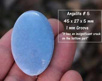 Group of Angelite Stones/Semiprecious / Cabochon/ Baby Blue/ Gem/ Crystal