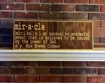 Personalized Miracle Nursery Sign for Baby's Room