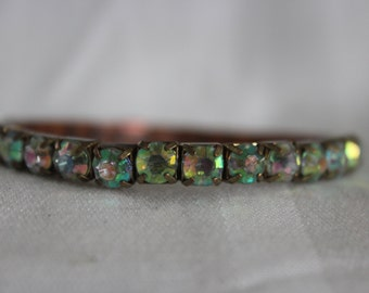 Rhinestone Stretch Bracelet Aurora Borealis