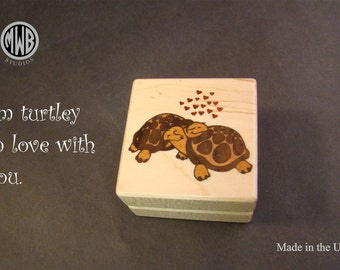 Inlaid Turtle Ring Box. RB-93.   Free shipping and engraving