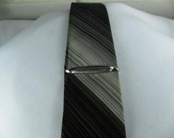 Vintage Chrome Small tie clip