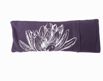 Eye pillow / Savasana eye bag with washable cover / Organic cotton and bamboo