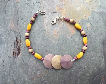 Tagua Nut Jewelry - Tagua Bracelet - Tagua Anklet - Eco Friendly Jewelry - Natural Jewelry