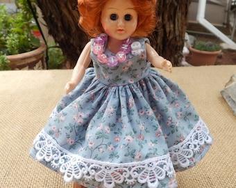 Mid Century Hard Plastic Doll  ~  Valentine Candy Box Doll  ~  1950's Valentine Candy Box Doll