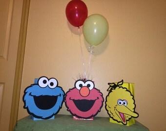 Cute Monster Balloon Centerpiece Set of Three