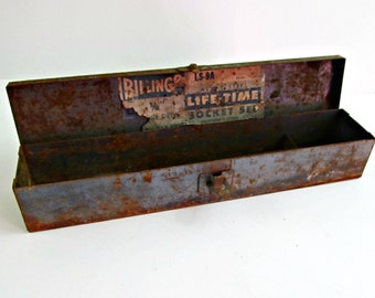 Vintage Blue Billings Toolbox