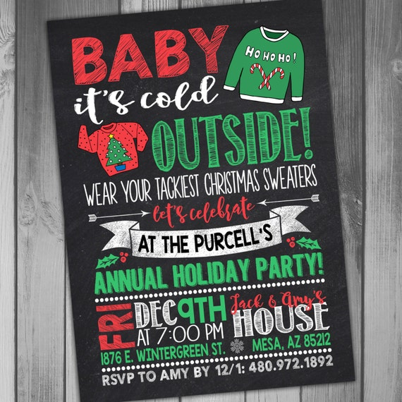 Ugly Sweater Invite