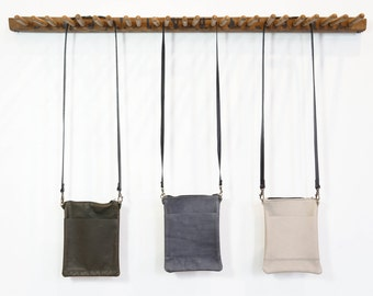 Small Zip Bag - Olive/Grey/Oyster - SALE - 50% OFF