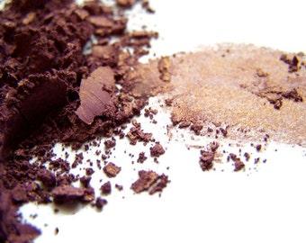 Mineral Eye Shadow -  Golden Plum Eyeshadow - Plum Eyeliner - Vegan Shadow - Vegan Makeup - Mineral Eyeshadow - Mineral Eyeliner