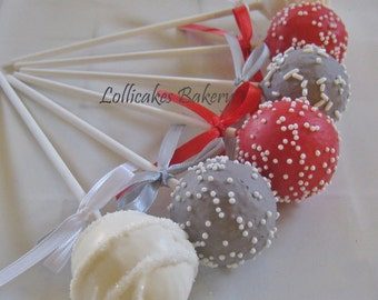 Wedding Favors: Wedding Cake Pops Made to Order with High Quality Ingredients, 1 Dozen