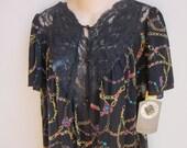 Vintage Peignoir nightgown & robe set Vassarette - tags still on M