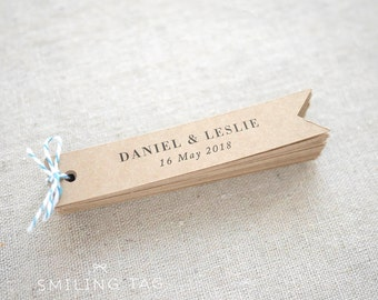 Rustic Wedding Favor Tags - Personalized Wedding Favor Kraft Tags - Product Tags - Shop Labels - Clothing Tags - Set of 25 (Item code: J542)