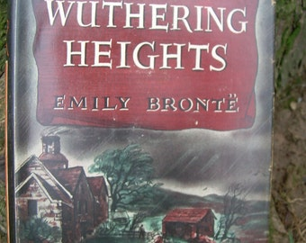 Vintage Classic Gothic Romance Book - Wuthering Heights - Emily Bronte