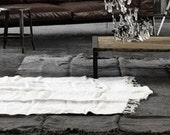 SPECIAL LISTING for DANIEL: handmade rug from vintage linen, anthrazit + 3 natural dish towels