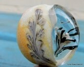 Large Glass Focal Bead - Hand Made Glass Bead, Abstract Flower Implosion Bead/ Unusual Bead SRAJD FHFTeam