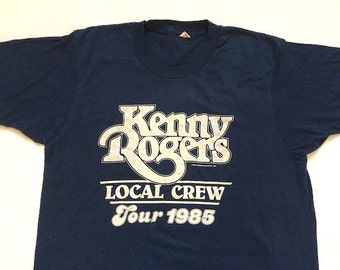 Vintage Kenny Rogers Tour 1985 Tee