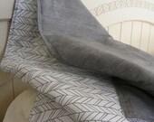 crib blanket reversible gender nuetral baby crib bedding black grey feather baby bedding