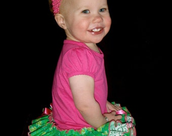 Parley Ray St. Patricks Day Lucky Charm All Around Ruffled Skirt Bloomers / Diaper Cover