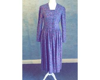 Cute True Vintage LAURA ASHLEY Floral Print Dress
