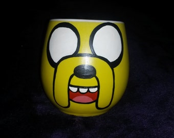 Hand Painted Jake the Dog Adventure Time Inspired Mug