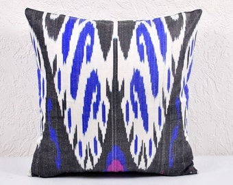 Ikat Pillow, Ikat Pillow Cover,  spi515, Ikat throw pillows, Designer pillows, Decorative pillows, Accent pillows
