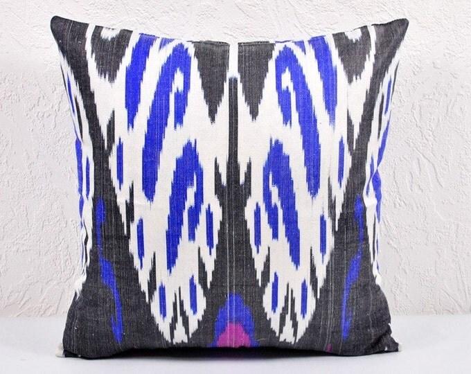 Ikat Pillow, Ikat Pillow Cover,  spi515, Ikat throw pillows, Designer pillows, Decorative pillows, Accent pillows