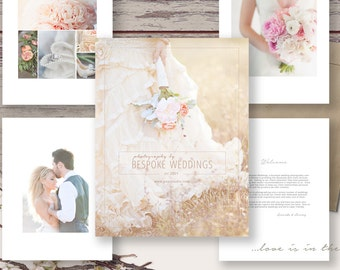 Wedding Photography Welcome Guide Magazine Template, Photography Marketing Template, Price Guide, Branding, WM401, INSTANT DOWNLOAD