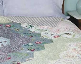 Natures Harmony quilt pattern. An update of Grandmas' flower garden! Pattern only 2.99