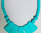 Teal Statement Teething Necklace