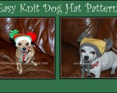 Easy Knit Dog Hat - Instant Download Knitting Pattern