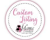 Custom Listing For Sweet123...2 Yards Retro Santa Train Fabric