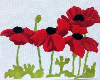 Red Poppies in fabric