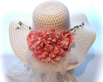 Sun Hat Easter Bonnet Kentucky Derby Hat Summer Hats Mother of the Bride DH-148