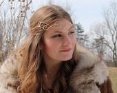 Gold Elfin Tiara, Wire Elfin Crown, Forehead Crown, Regal,Rennaissance Crown. Fairy crown, princess crown, circlet crown