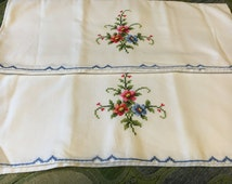 Vintage Cotton Embroidered standard pillow cases
