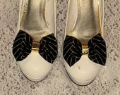 Christmas Shoe Clips, Black Gold Shoe Clips, Shoe Clips, Clips for Pumps, Heels, Christmas Shoes, Fall Shoe Clips, Gifts for Her, Girls