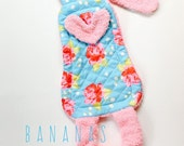 Baby toy, lovey, teether, doll, bunny, Pink Chevron Bunny