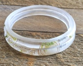 Two Perrier-Jouët Stacking Bangles   Upcycled Clear Champagne Bottle